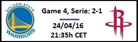 Apuesta #NBAPlayoffs - 1ª Ronda - GS Warriors vs Houston Rockets (Game 4)