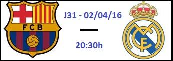 Apuesta futbol - La Liga BBVA FC Barcelona vs Real Madrid
