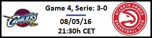 Apuesta #NBAPlayoffs - Semis de Conf. Este - Cleveland Cavaliers vs Atlanta Hawks (G4)